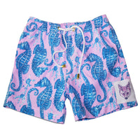 Men's Seahorse Surfer in Pink/Blue