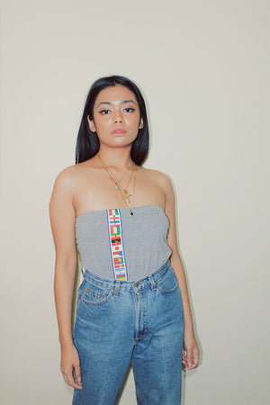 RWRK Flags Tube Top - Gray