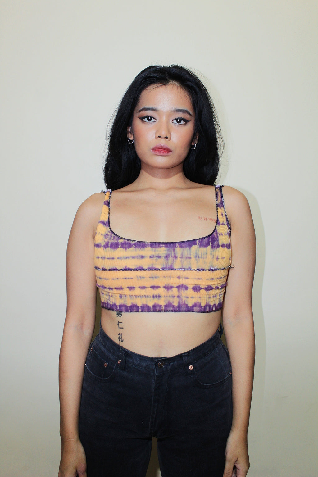 RWRK Ribbed Tie Dye Sleeveless Crop Top