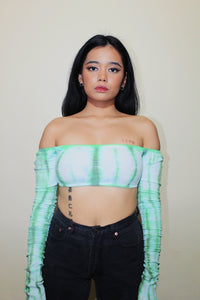 RWRK Ribbed Tie Dye Off Shoulder Top