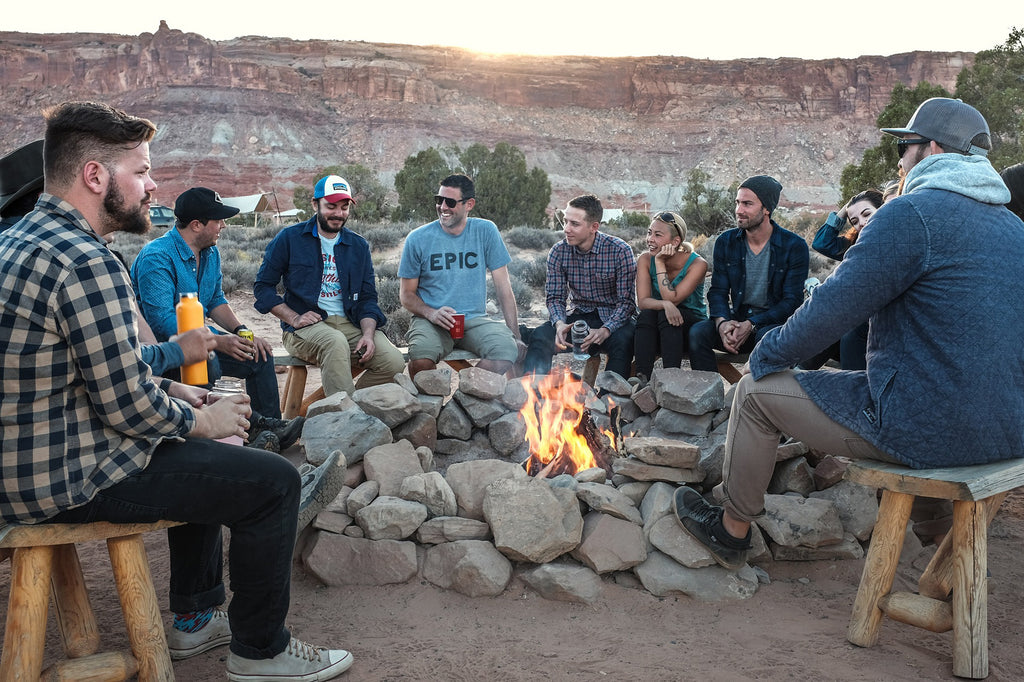 Socialization Around Campfire -  6 Ways Camping Is Healthy For You - Paumco Blog