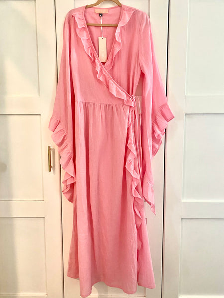 Pink Vera Wrap Dress