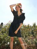 Marley Black Frill Dress