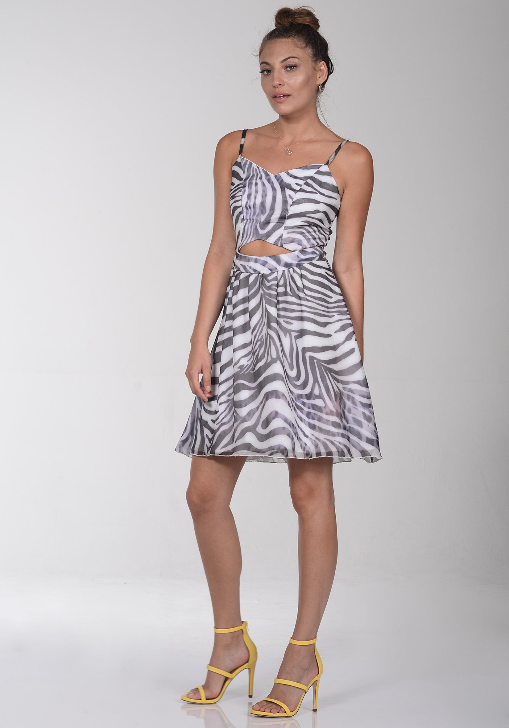 6c18d4dc9f Short zebra print dress - PIOO PIOO - US