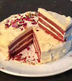 Raw Layered Red Velvet Cake