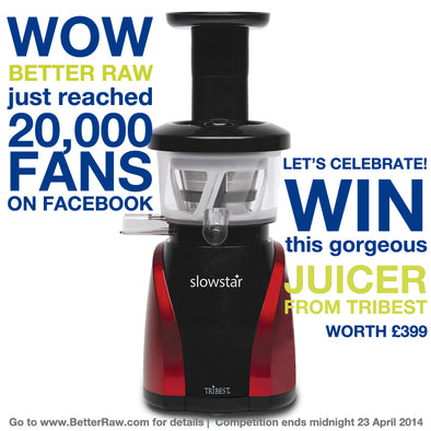 OMG 20,000 fans on Facebook! Win a Juicer from Tribest...