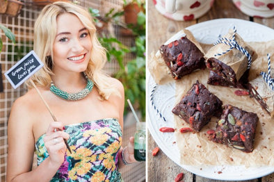 Master of The Month | Mel Wells | Raw Chocolate Goji Berry Brownies Recipe