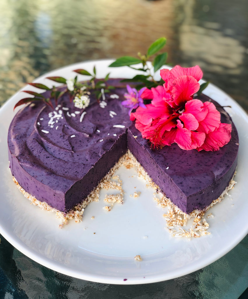 immune boosting recipes by tanya maher _ raw blueberry cheesecake