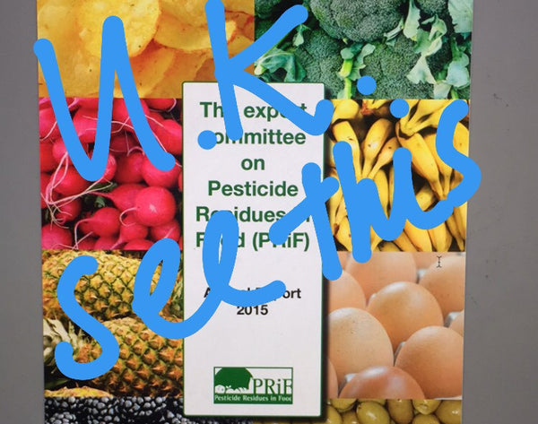 The Expert Committee on Pesticide Residues in Food (PRiF)