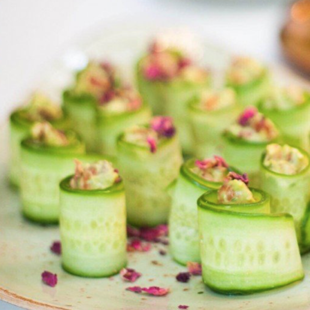 cucumber rolls Tanya Maher skin workshop