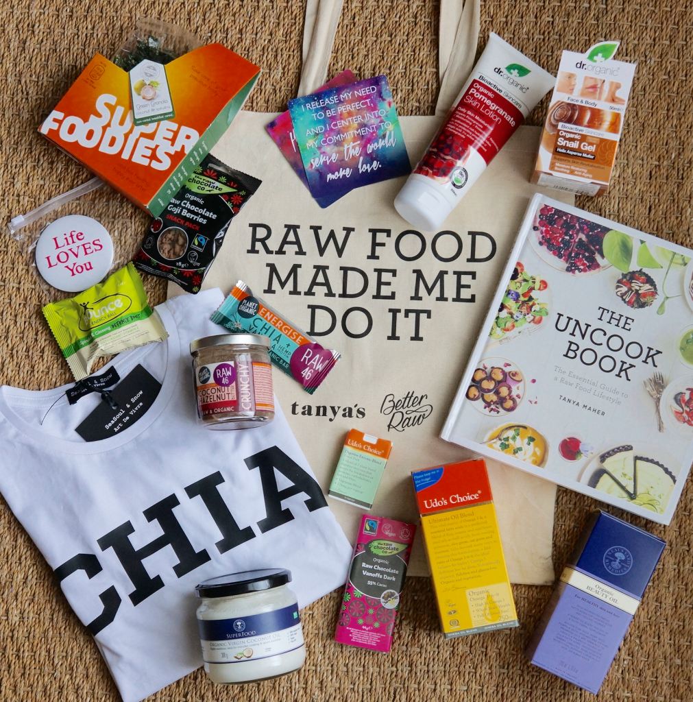 The Uncook Book goodie bag