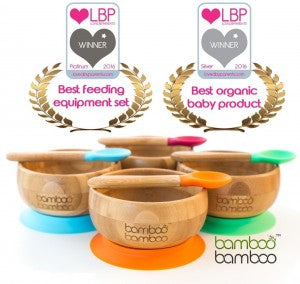 bamboo feeding bowl and spoon