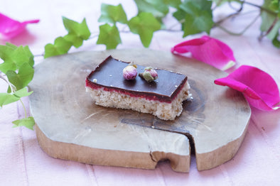 All UK - Raspberry & Coconut Slice
