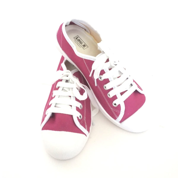 Grape Plimsolls Lace Ups