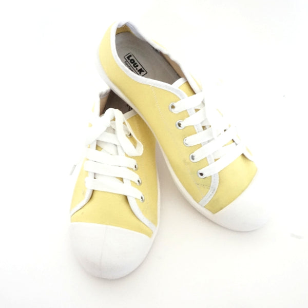 Mellow Yellow Plimsolls Lace Ups