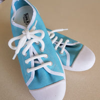 Turquoise Plimsolls Lace Ups