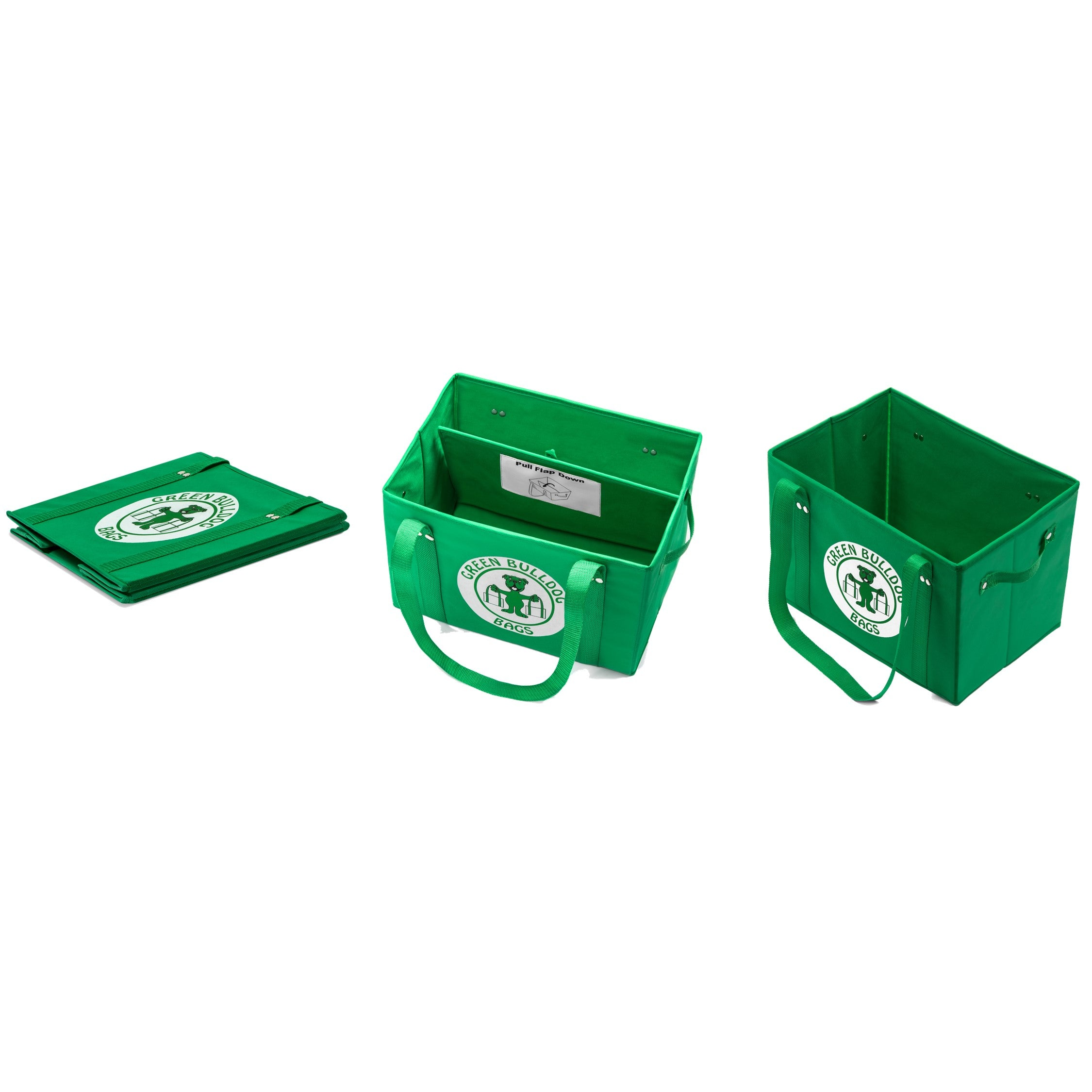 Green Bulldog Logo Bags (Set of 3)