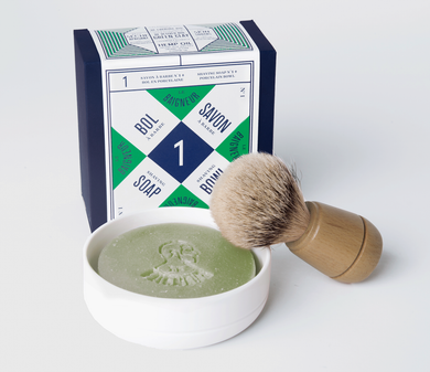 Porcelain Bowl & Shaving Soap No.1 & Shaving Brush | Rasierseife No.1, Porzellanschale & Rasierpinsel