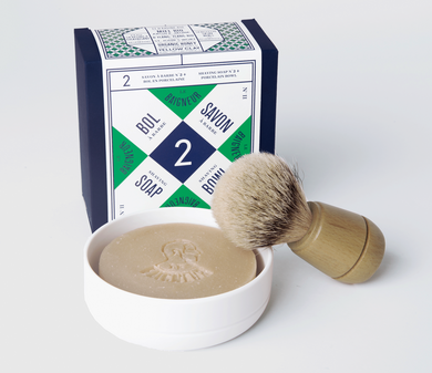 Porcelain Bowl & Shaving Soap No.2 & Shaving Brush | Rasierseife No.2, Porzellanschale & Rasierpinsel