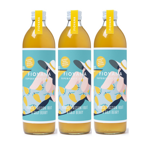 MANGO, PASSION FRUIT & GOJI BERRY 6 x 500ml BOTTLES