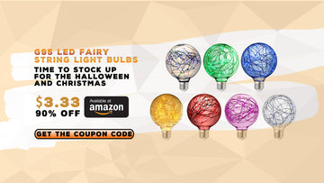 AUGUST SALE - 90% OFF G95 Colored Fairy String Light Bulbs at Our Amazon Store
