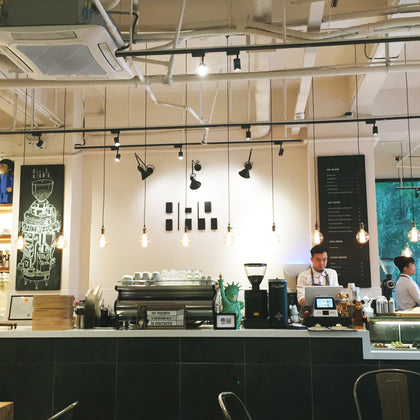 coffee shop lighting ideas