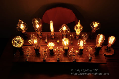 gas  in edison light bulbs fluorescent