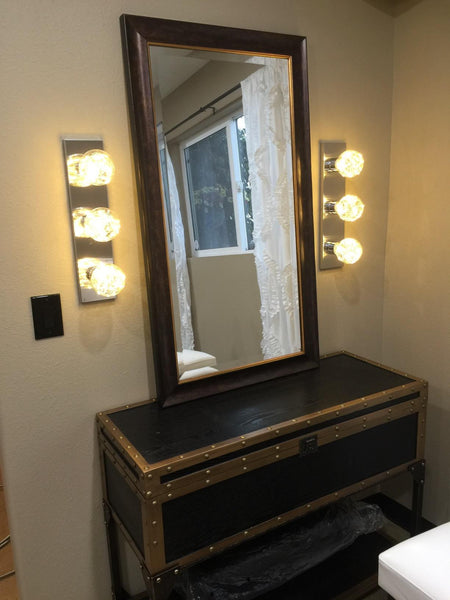 Diy A Vintage Industrial Style Vanity Light For Dressing