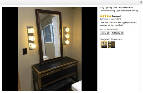 vanity light on amazon reviews decorative light bulbs for dressing room  sc 1 st  Judy Lighting & DIY a Vintage Industrial Style Vanity Light for Dressing Room ... azcodes.com