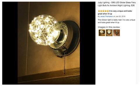 fairy string light led bulb on amazon