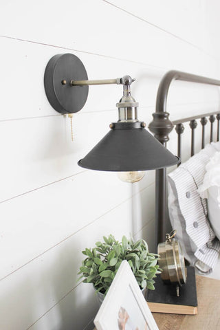 industrial wall sconces for bedroom