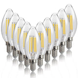 C35 Bullet Shaped Vintage Light Bulb, E14 Based, 4W 10 Pack