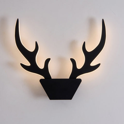 Nordic Reindeer Modern Farmhouse Style LED Wall Light Sconces