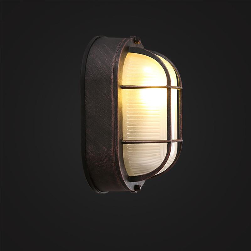 Cage Mounted Wall or Ceiling Lamp