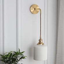 Calie Nordic Wall Lamp with Ceramic Lamp Shade, White