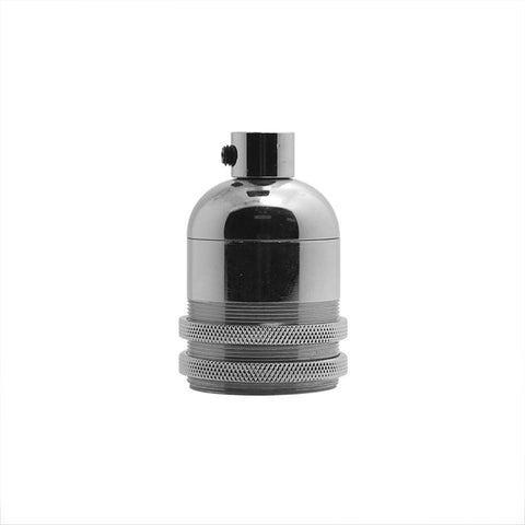 Silver Bullet Aluminium Lamp Holder with base thread