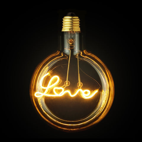 Love LED Light Bulb JUDY lighting for industrial style incandescents, Edison bulbs, decorative lights, pendant lights wall sconces