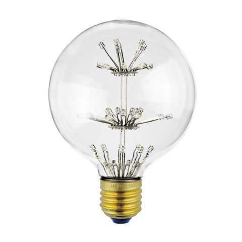 LED Fireworks Globe Bulb  Edison Filament Light 3W - Judy Lighting