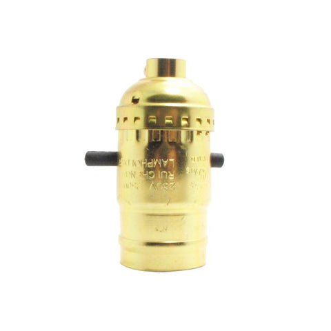 Brass Aluminium Keyed Bulb Holder
