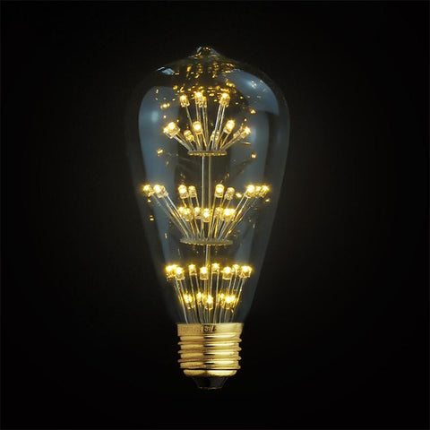 3W LED Classic Edison Fireworks Light Bulb JUDY lighting for industrial style incandescents, Edison bulbs, decorative lights, pendant lights wall sconces