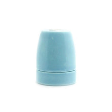 Baby Blue Porcelain Lamp Holder