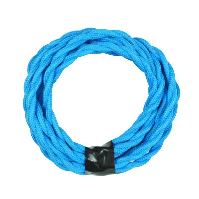 Baby Blue Color Twisted Cloth Lighting Flex Cables