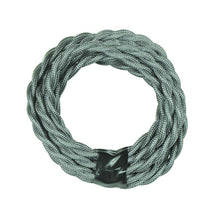 Grey Twisted Cloth Lighting Flex Cables