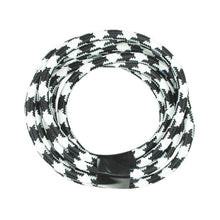 Zebra Black & White Round Cloth Lighting Flex Cables