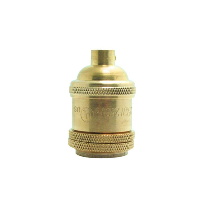 Short Brass Copper Lamp Holder