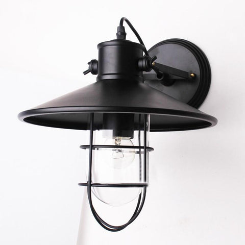 Gas Station Bulkhead Wall Lamp Black - Judy Lighting