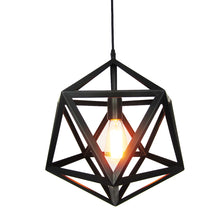 "Geometric Style 16"" Black Black Wrought Iron Metal Chandelier - Judy Lighting"