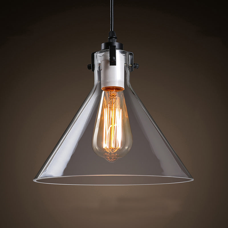 Andante Simplicity Modern Hanging Glass Shade Pendant Light