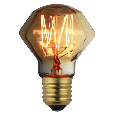 TB100 Amber Tiny Diamond Incandescent - 40W E26 E27