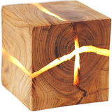 Cracking Tube Pine Wood LED Wall Lamp, Ambient Night Light
